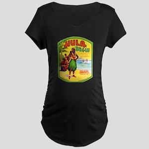 Hawaii Beer Label 2 Maternity Dark T-Shirt