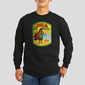 Hawaii Beer Label 2 Long Sleeve Dark T-Shirt