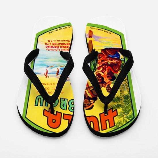 Hawaii Beer Label 2 Flip Flops