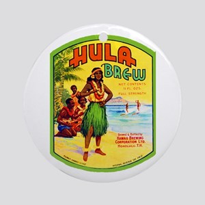 Hawaii Beer Label 2 Ornament (Round)