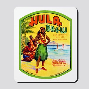 Hawaii Beer Label 2 Mousepad