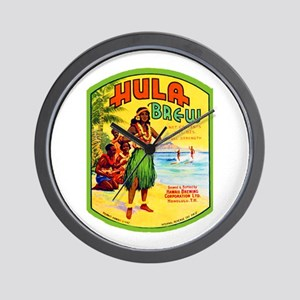 Hawaii Beer Label 2 Wall Clock
