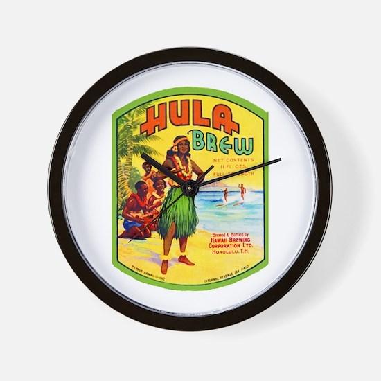 Hawaii Beer Label 2 Wall Clock