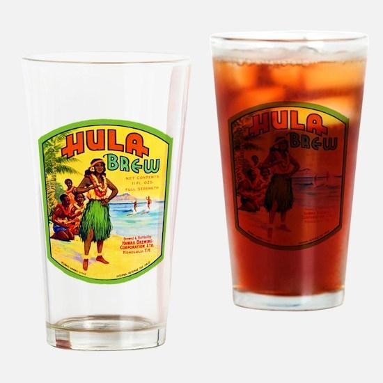 Hawaii Beer Label 2 Drinking Glass
