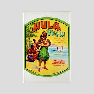 Hawaii Beer Label 2 Rectangle Magnet