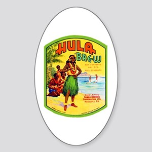 Hawaii Beer Label 2 Sticker (Oval)