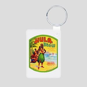 Hawaii Beer Label 2 Aluminum Photo Keychain