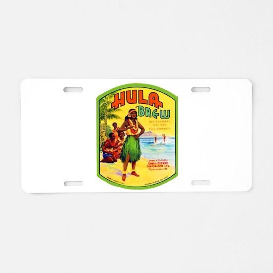 Hawaii Beer Label 2 Aluminum License Plate