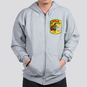 Hawaii Beer Label 2 Zip Hoodie