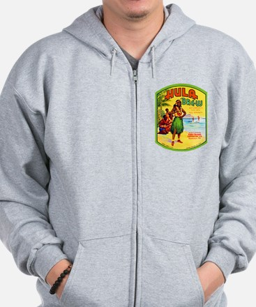 Hawaii Beer Label 2 Zip Hoody