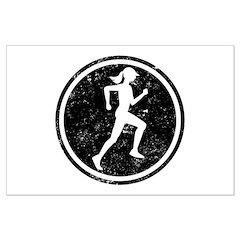 Female Runner Posters