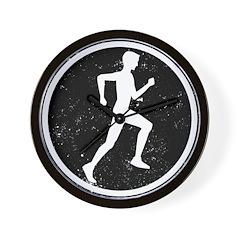 Male Runner Wall Clock