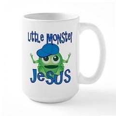 Little Monster Jesus Large Mug
