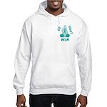 Teal WIN Ribbon Hooded Sweatshirt