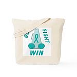 Teal WIN Ribbon Tote Bag
