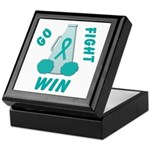 Teal WIN Ribbon Keepsake Box