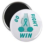Teal WIN Ribbon Magnet