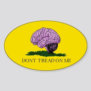 Don't Tread On Me. Sticker (Oval)