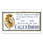 Bourbon St Tile Mural Sticker (Rectangle)