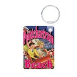 Bourbon St Tile Mural Aluminum Photo Keychain