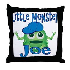 Little Monster Joe Throw Pillow