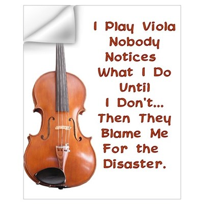I Play Viola Wall Decal