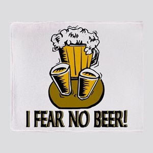 Fear No Beer Throw Blanket