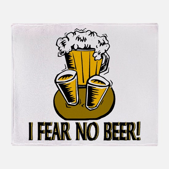 Fear No Beer Throw Blanket