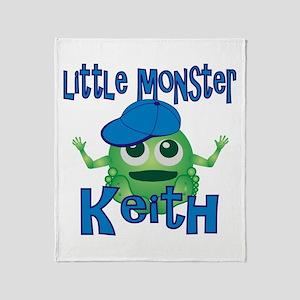 Little Monster Keith Throw Blanket