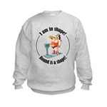 I am in shape! Kids Sweatshirt