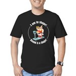 I am in shape! Men's Fitted T-Shirt (dark)