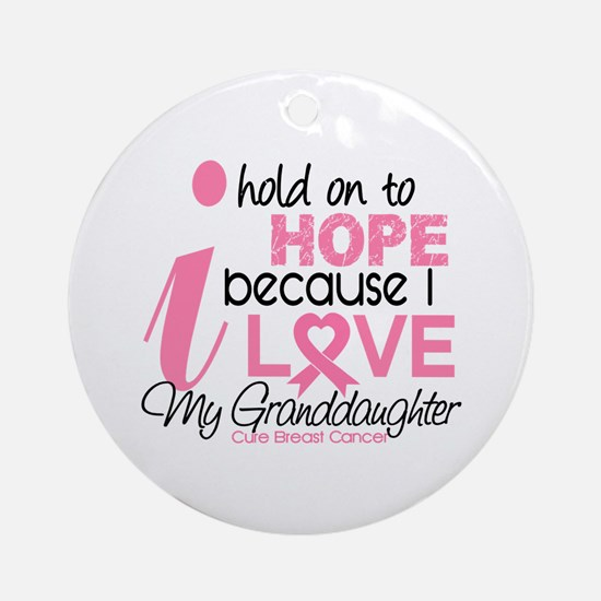 Hope For My Breast Cancer Ornament (Round)