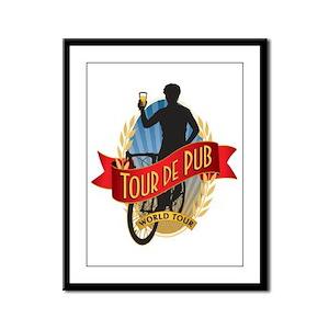 Tour de Pub Framed Panel Print