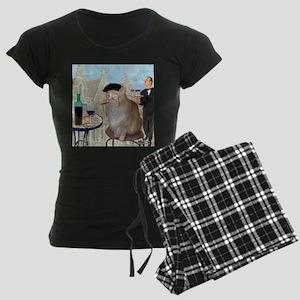 Le Cat du Cafe Women's Dark Pajamas