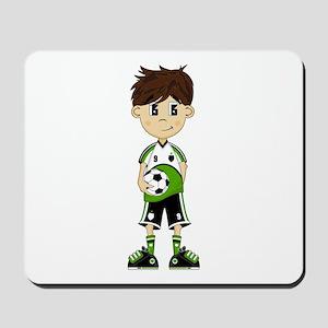 Cute Soccer Boy Mousepad