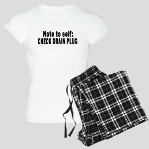 Note to Self... Check Drain P Women's Light Pajama