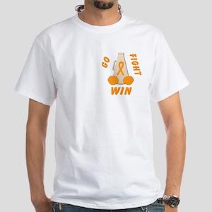 Orange WIN Ribbon White T-Shirt