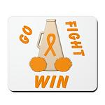 Orange WIN Ribbon Mousepad
