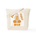 Orange WIN Ribbon Tote Bag