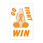 Orange WIN Ribbon Mini Poster Print