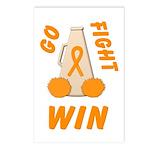 Orange WIN Ribbon Postcards (Package of 8)