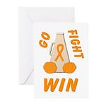 Orange WIN Ribbon Greeting Cards (Pk of 10)