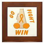 Orange WIN Ribbon Framed Tile