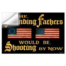 Founding Fathers Shooting Wall Decal