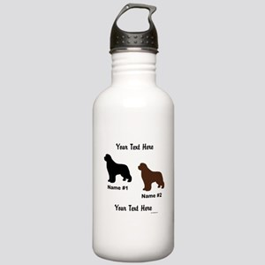 1 Black & 1 Brown Newf Stainless Water Bottle 1.0L