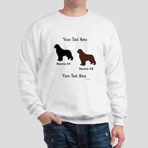 1 Black & 1 Brown Newf Sweatshirt