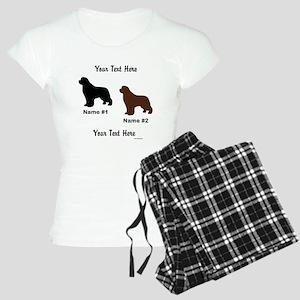 1 Black & 1 Brown Newf Women's Light Pajamas