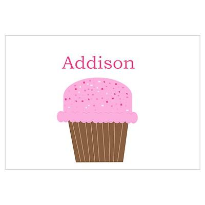 Addison - Hot Pink Cupcake Poster