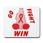 Red Go WIN Ribbon Mousepad