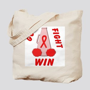 Red Go WIN Ribbon Tote Bag